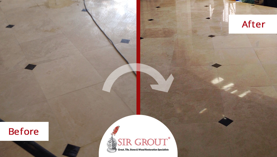 How to Turn Back the Clock on a Faded Marble Floor with Honing and Polishing