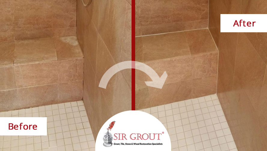 Remove Soap S From Tile Shower Floor Image Cabinets And