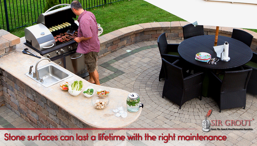 Stone surfaces can last a lifetime with the right maintenance