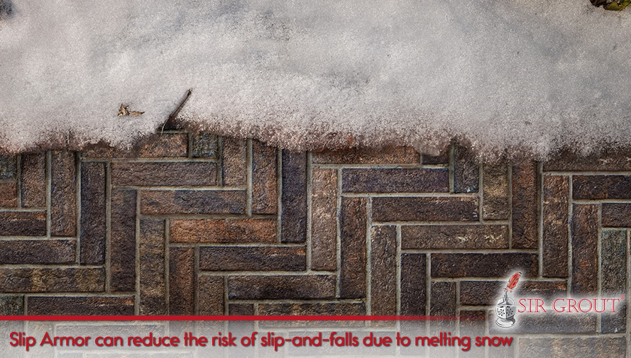 Slip Armor can reduce the risk of slip and fall due to melting snow