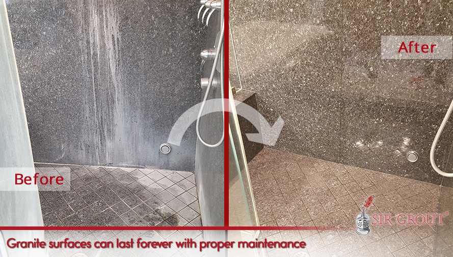 Sealing granite showers can make them last forever with proper maintenance and regular sealing