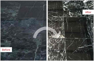 Sir Grout Black Marble Stone Honing and Polishing