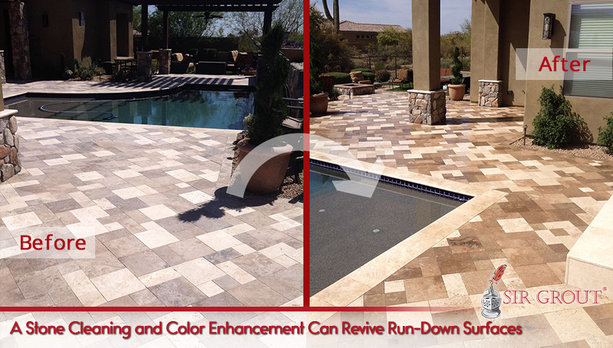 A Stone Cleaning and Color Enhancement Can Revive Run-Down Surfaces