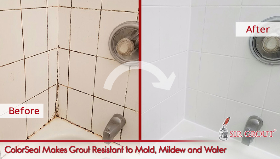 ColorSeal makes grout resistant to mold, mildew and water