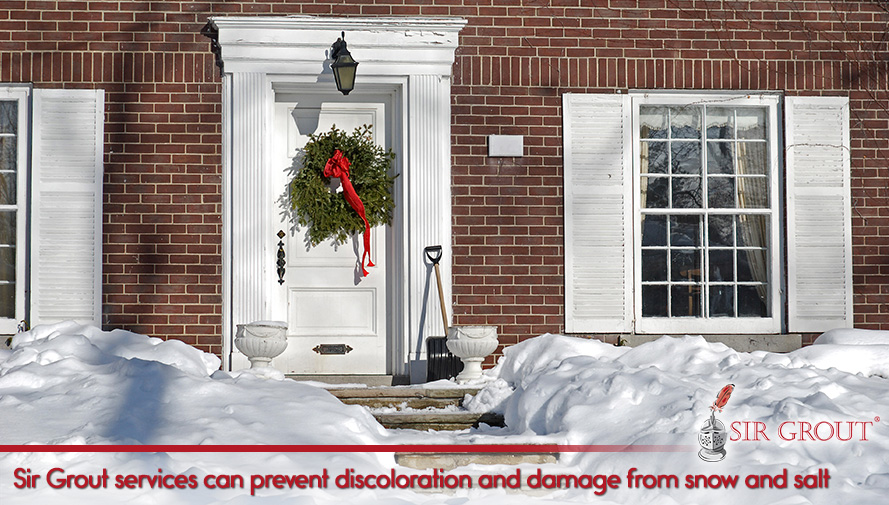 Sir Grout services can prevent discoloration and damage from snow and salt