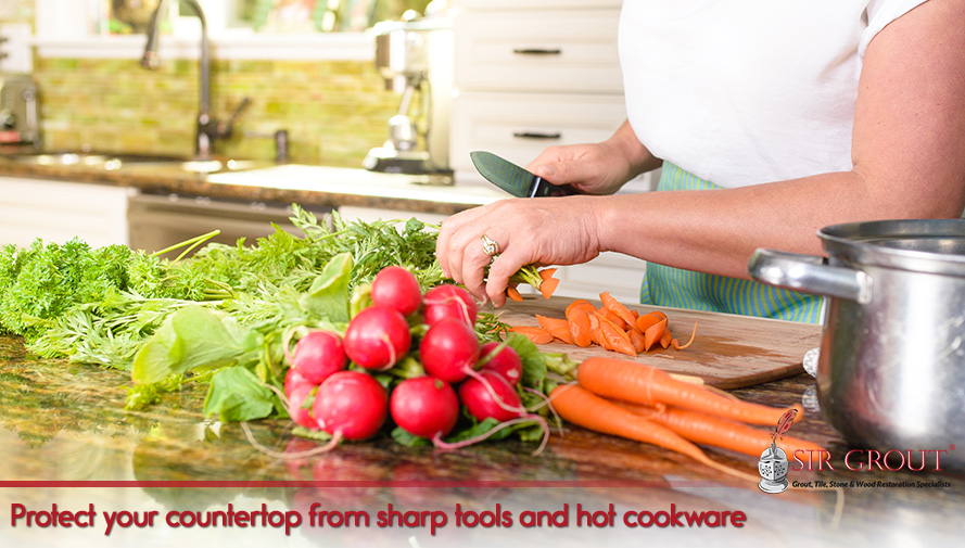 Protect your countertop from sharp tools and shot cookware