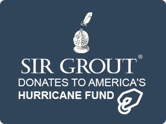 Sir Grout donates to America's Hurricane Fund