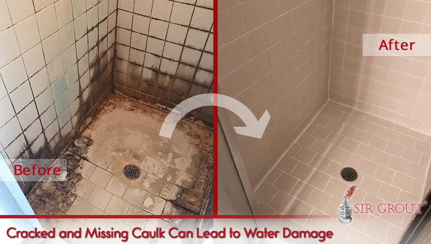 Cracked or Missing Caulk Can Lead to Water Damage