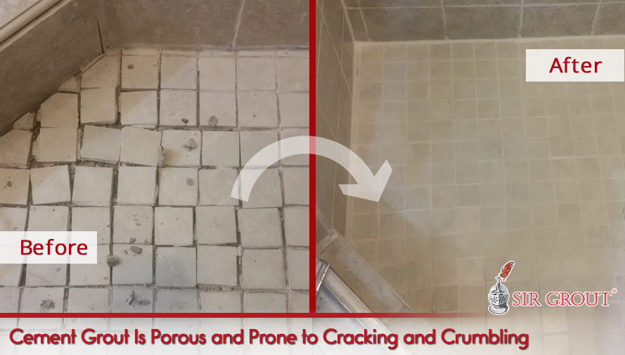 Cement Grout Is Porous and Prone to Cracking and Crumbling