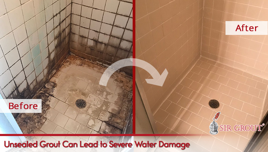 Unsealed Grout Can Lead to Severe Water Damage