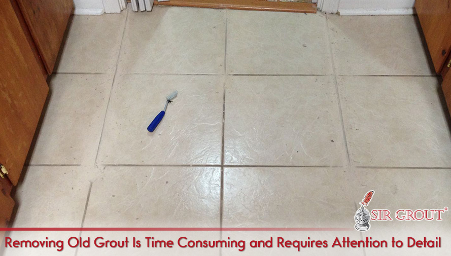 Picture of Grout Scraper on Tile Floor