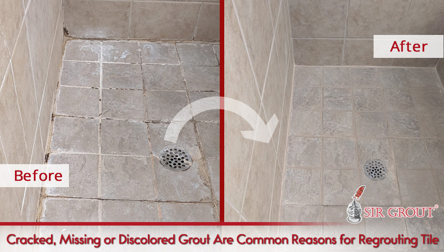 Cracked, Missing or Discolored Grout Are Common Reasons for Regrouting Tile