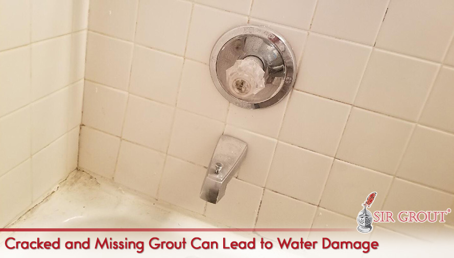 Cracked and Missing Grout Can Lead to Water Damage