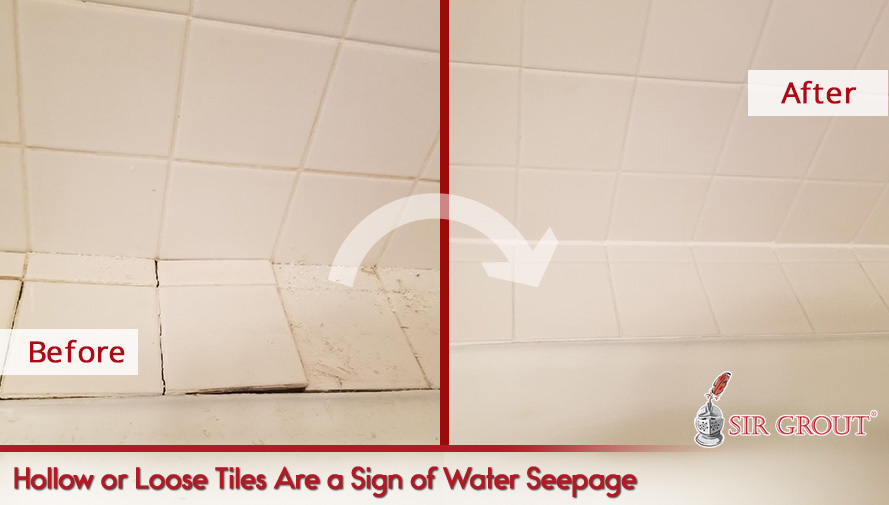 Hollow or Loose Tiles Are a Sign of Water Seepage