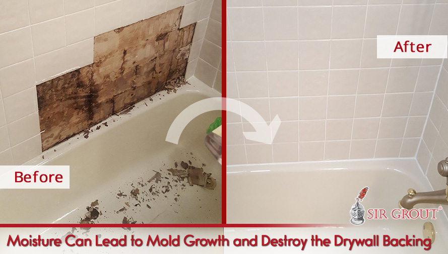 Moisture Can Lead to Mold Growth and Destroy the Drywall Backing