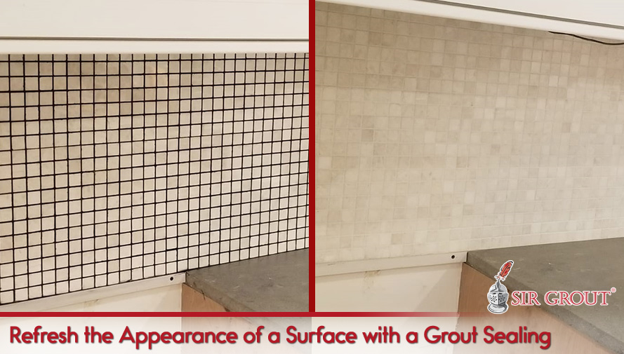 Refresh the Appearance of a Surface with a Grout Sealing