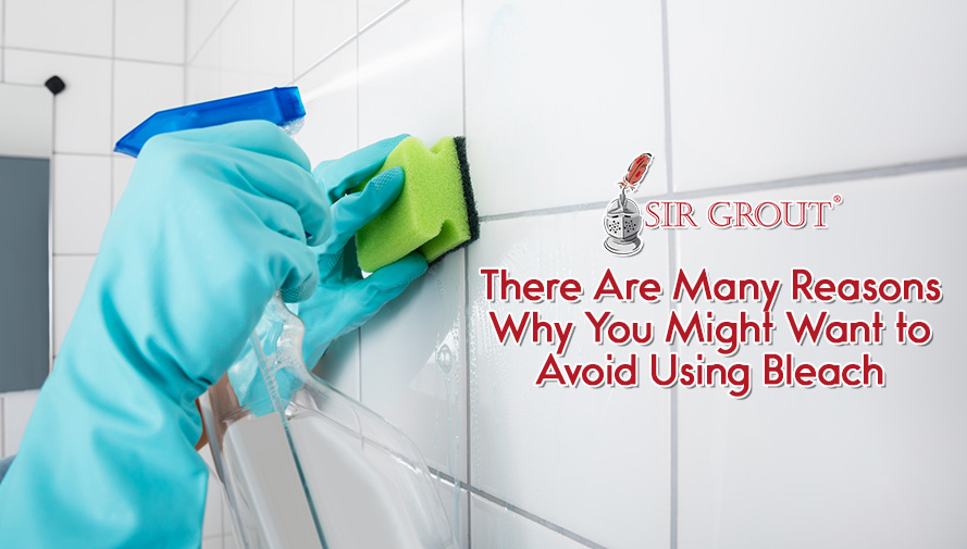 Bleach Can Weaken and Discolor Grout