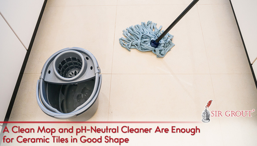 A Clean Mop and pH-Neutral Cleaner Are Enough for Ceramic Tiles in Good Shape