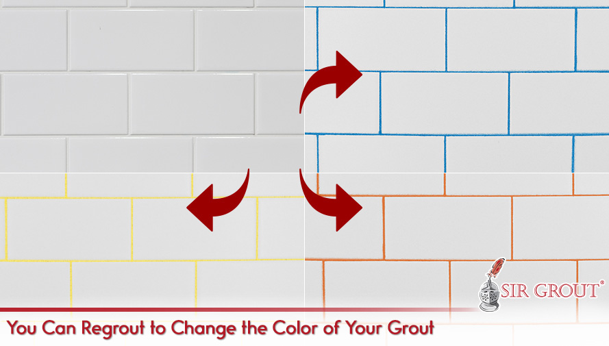 You Can Regrout to Change the Color of Your Grout