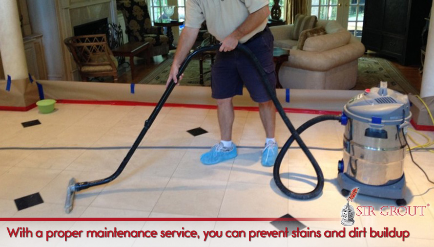 With a proper maintenance service, you can prevent stains and dirt buildup